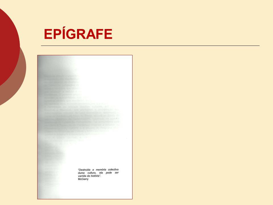 EPÍGRAFE
