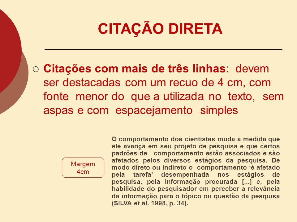 CITAÇÃO DIRETA