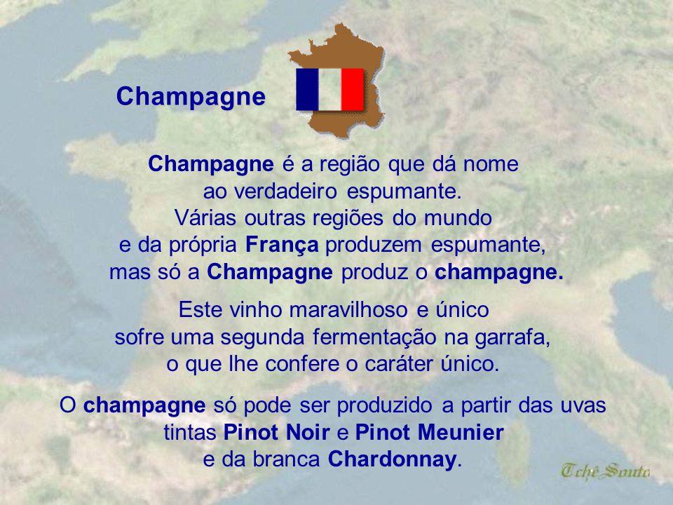 Champagne Champagne é a região que dá nome ao verdadeiro espumante.