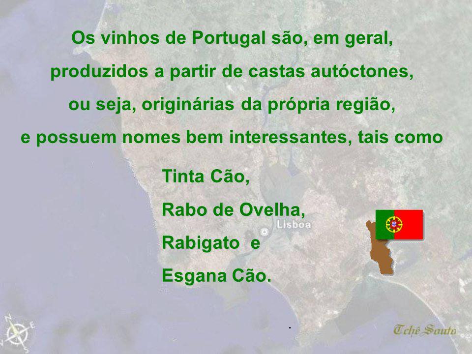 Os vinhos de Portugal são, em geral,