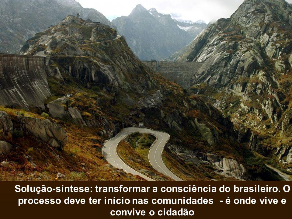 Solução-síntese: transformar a consciência do brasileiro
