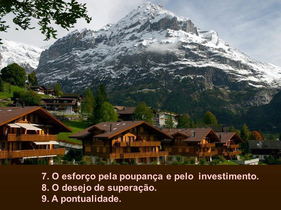 7. O esforço pela poupança e pelo investimento. 8