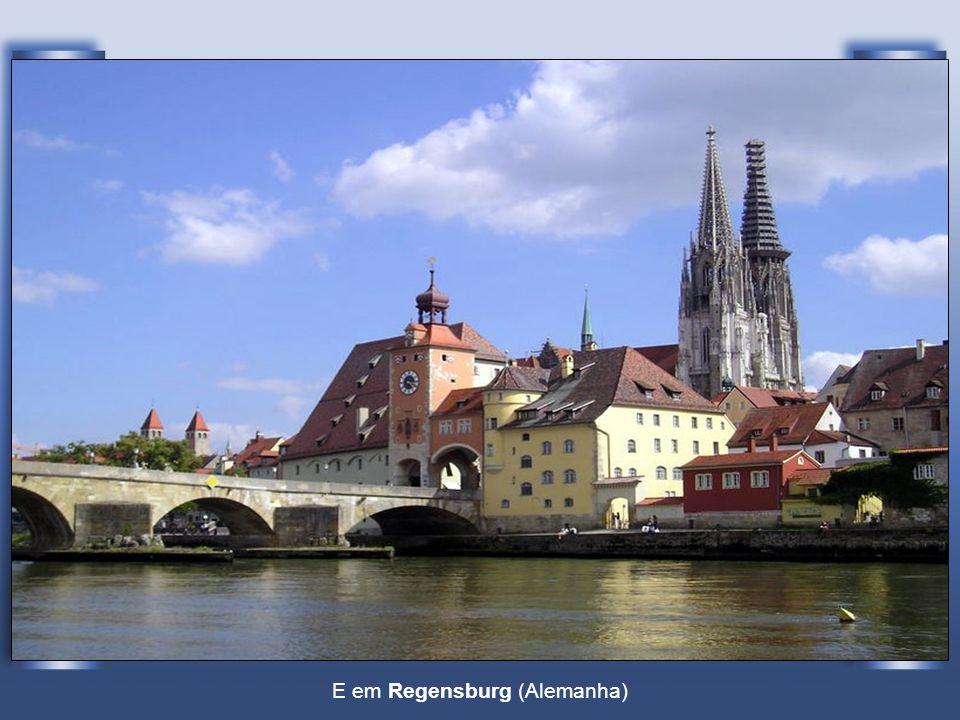 E em Regensburg (Alemanha)