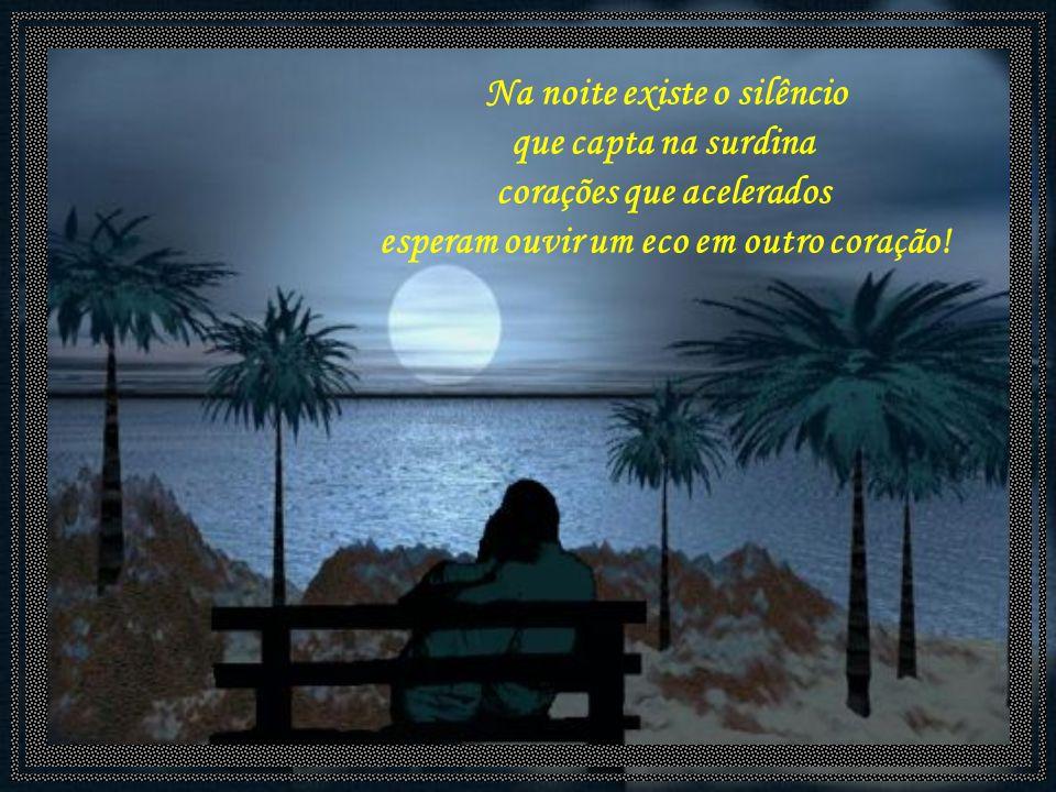 Na noite existe o silêncio que capta na surdina corações que acelerados esperam ouvir um eco em outro coração!