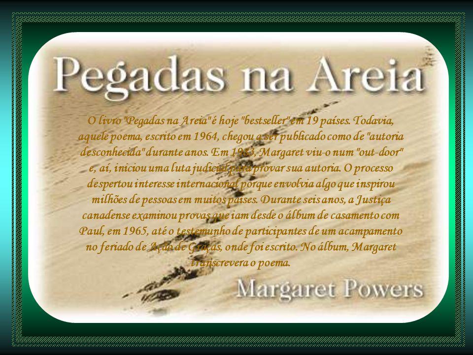 O livro Pegadas na Areia é hoje bestseller em 19 países