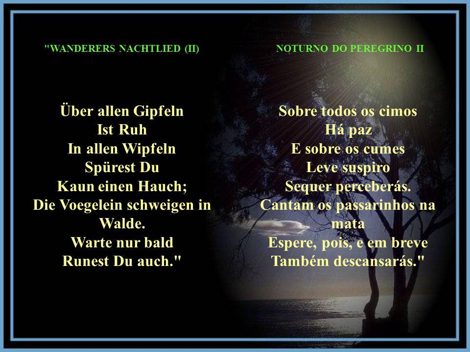 WANDERERS NACHTLIED (II) NOTURNO DO PEREGRINO II