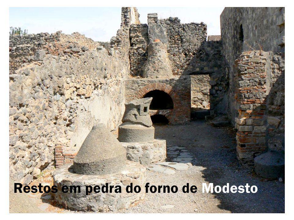 Restos em pedra do forno de Modesto