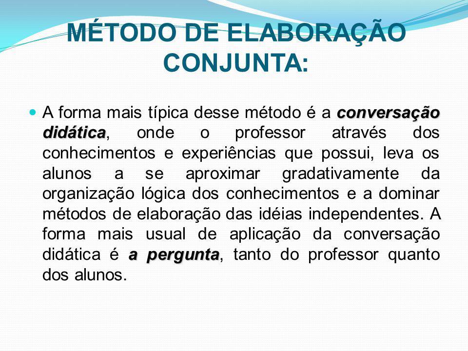 MÉTODO DE ELABORAÇÃO CONJUNTA: