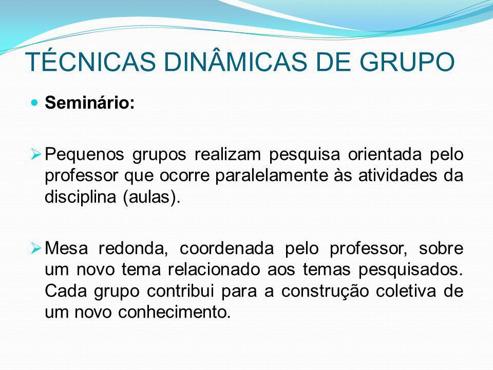 TÉCNICAS DINÂMICAS DE GRUPO