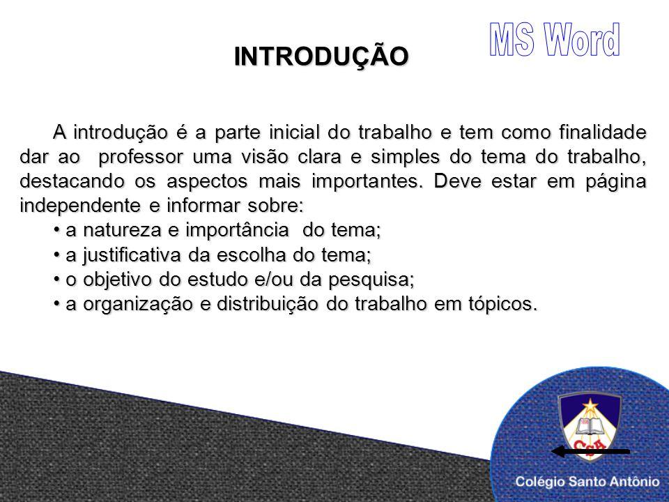 MS Word INTRODUÇÃO.