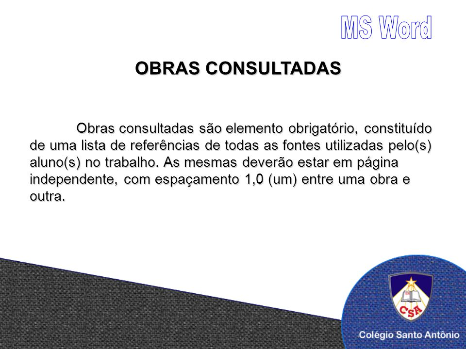 MS Word OBRAS CONSULTADAS