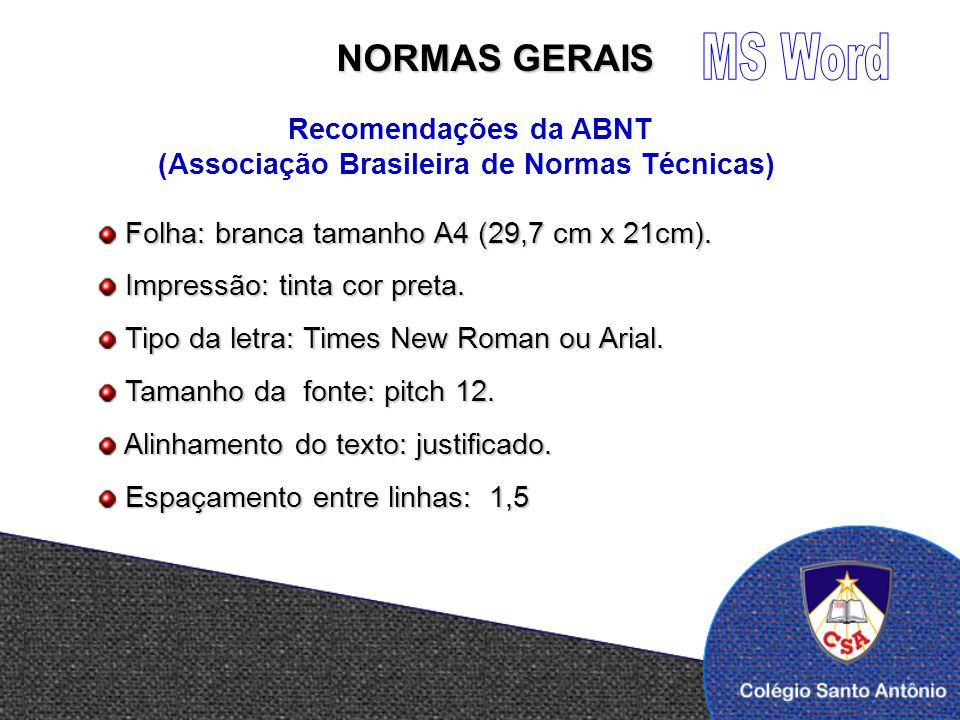 Trabalho normas abnt