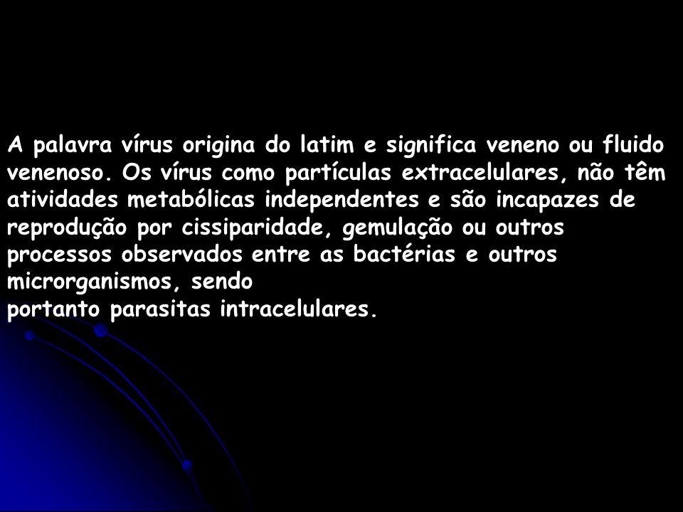 A palavra vírus origina do latim e significa veneno ou fluido venenoso