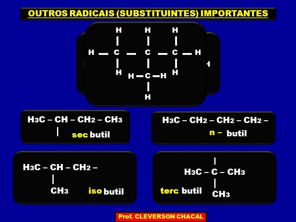 OUTROS RADICAIS (SUBSTITUINTES) IMPORTANTES