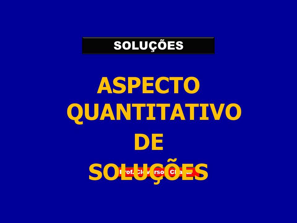 ASPECTO QUANTITATIVO DE SOLUÇÕES