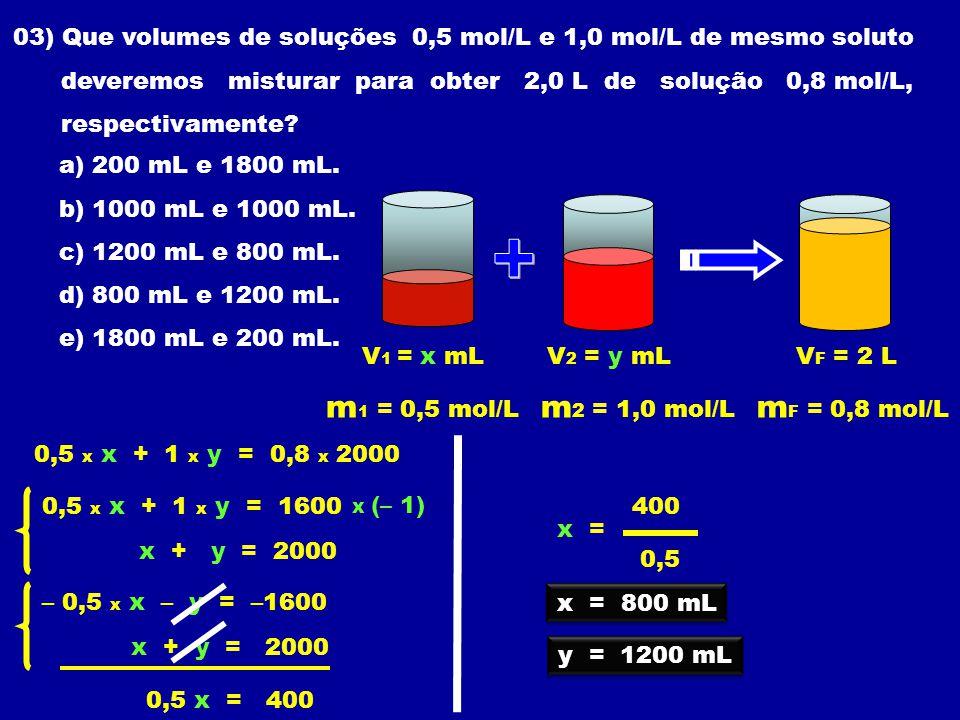 + m1 = 0,5 mol/L m2 = 1,0 mol/L mF = 0,8 mol/L
