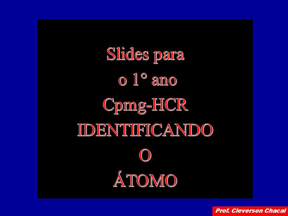 Slides para o 1° ano Cpmg-HCR IDENTIFICANDO O ÁTOMO