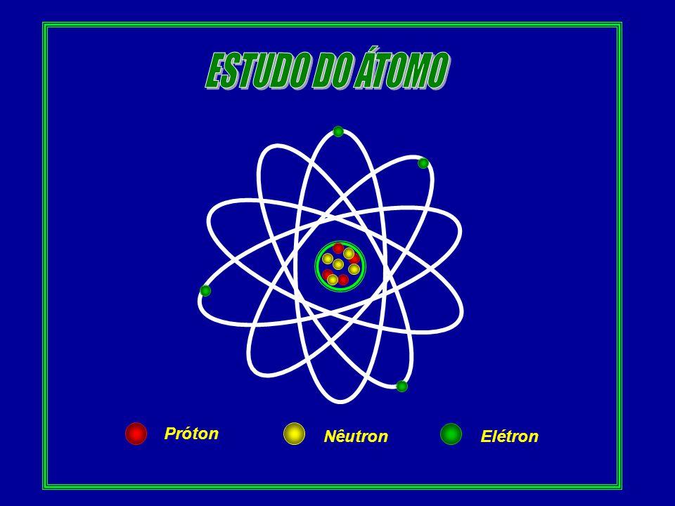 ESTUDO DO ÁTOMO Próton Nêutron Elétron