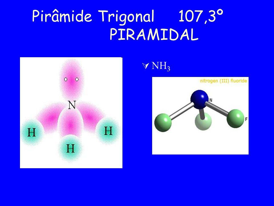 Pirâmide Trigonal 107,3º PIRAMIDAL