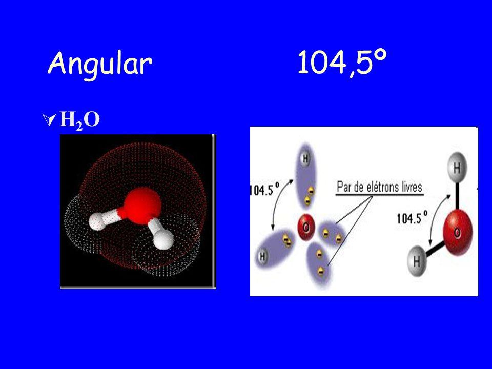 Angular 104,5º H2O