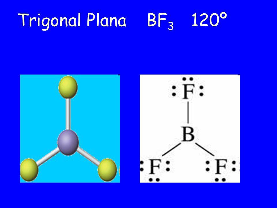 Trigonal Plana BF3 120º