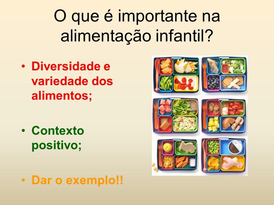 O que é importante na alimentação infantil