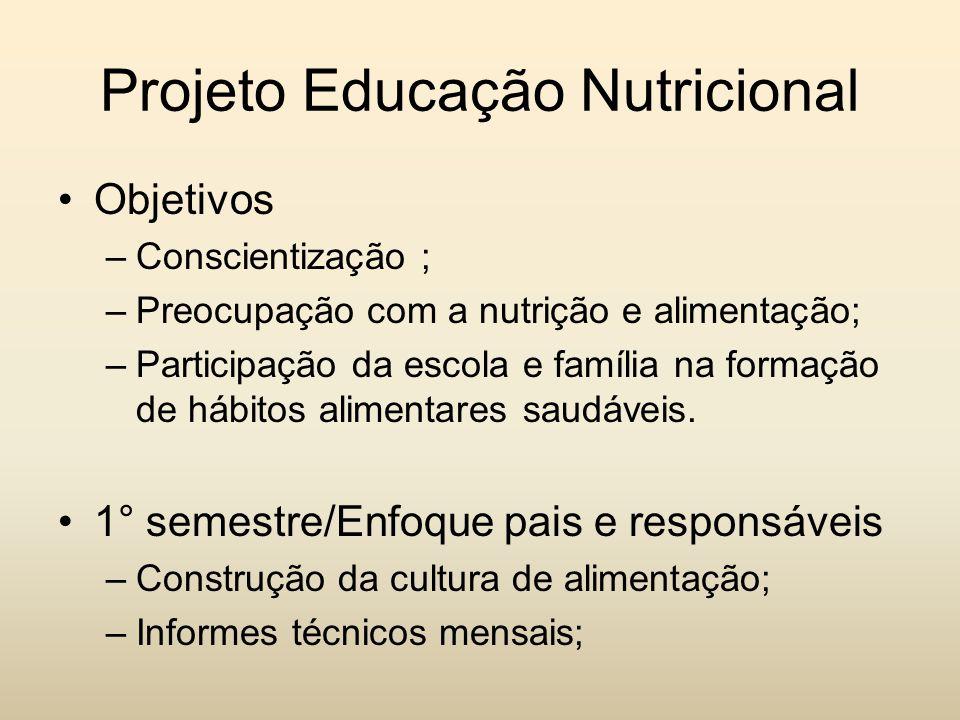 Projeto Educação Nutricional