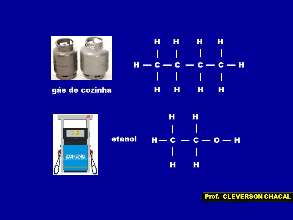 H C gás de cozinha H C O etanol Prof. CLEVERSON CHACAL
