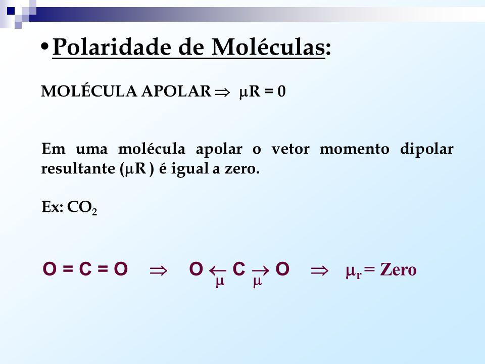 Polaridade de Moléculas: