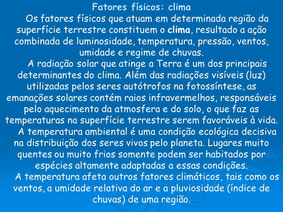 Fatores físicos: clima
