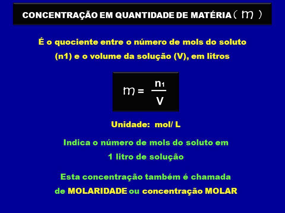 CONCENTRAÇÃO EM QUANTIDADE DE MATÉRIA ( m )