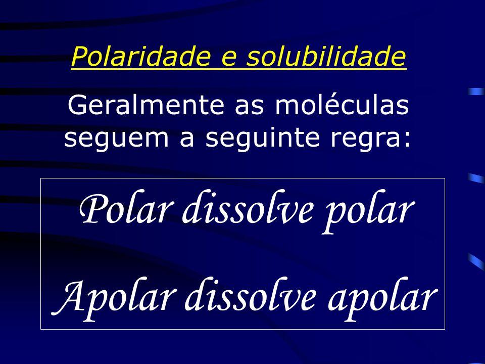 Apolar dissolve apolar