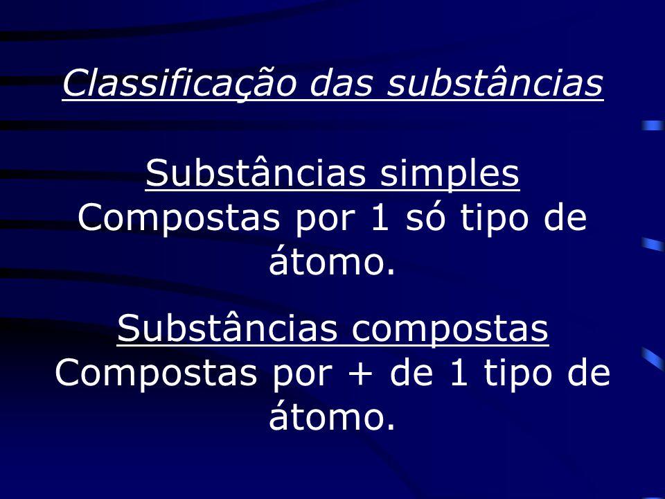 Classificação das substâncias