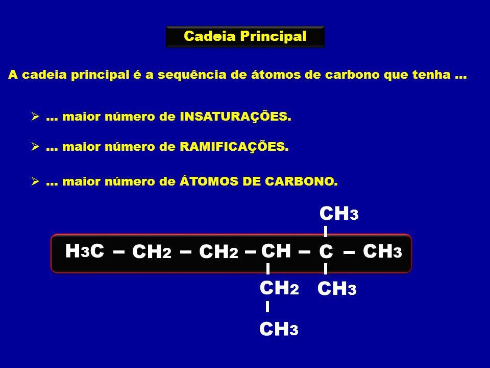 H3C CH2 C CH3 H Cadeia Principal