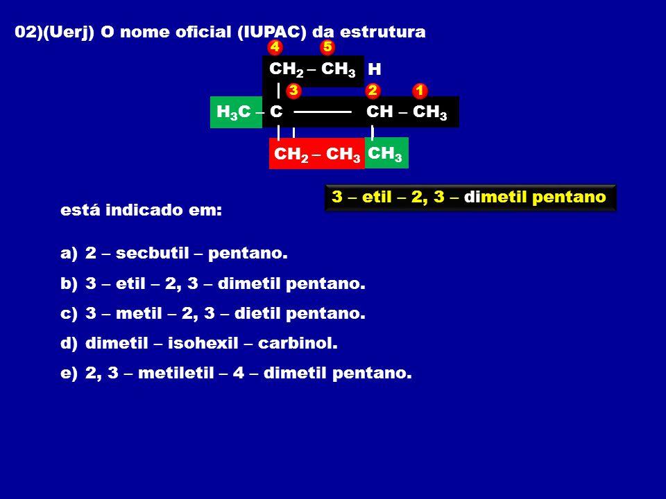 02)(Uerj) O nome oficial (IUPAC) da estrutura