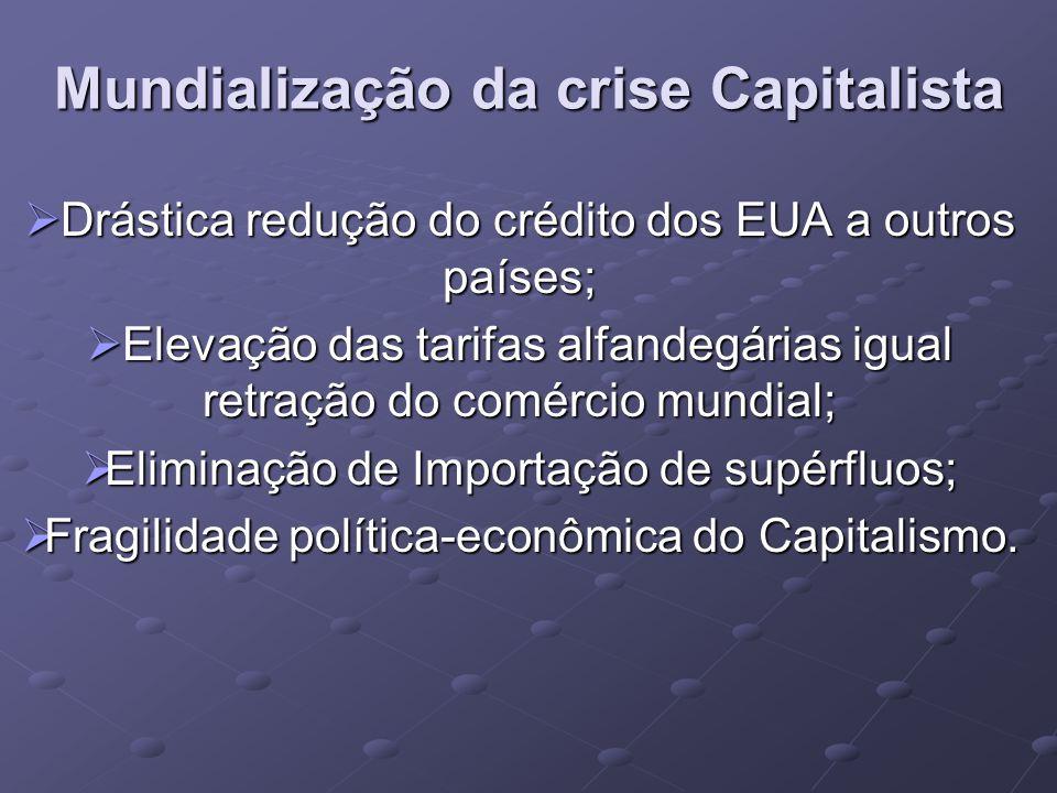 Mundialização da crise Capitalista