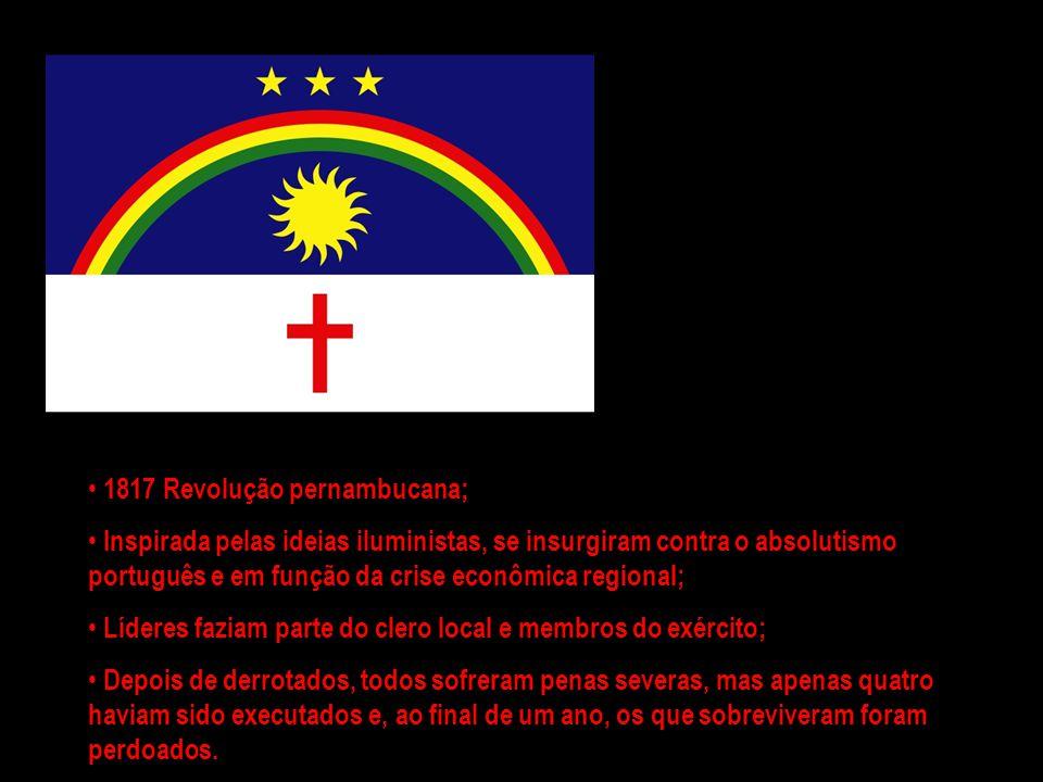 1817 Revolução pernambucana;