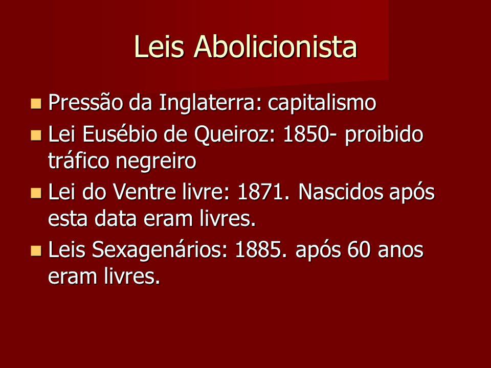Leis Abolicionista Pressão da Inglaterra: capitalismo