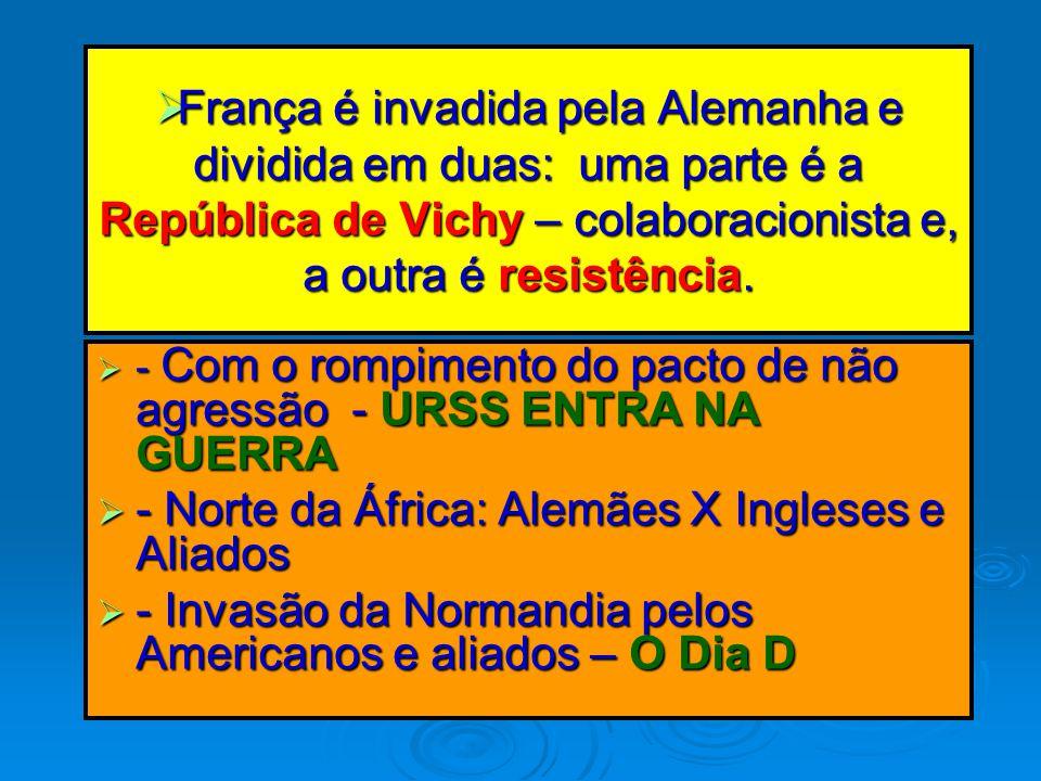 - Norte da África: Alemães X Ingleses e Aliados