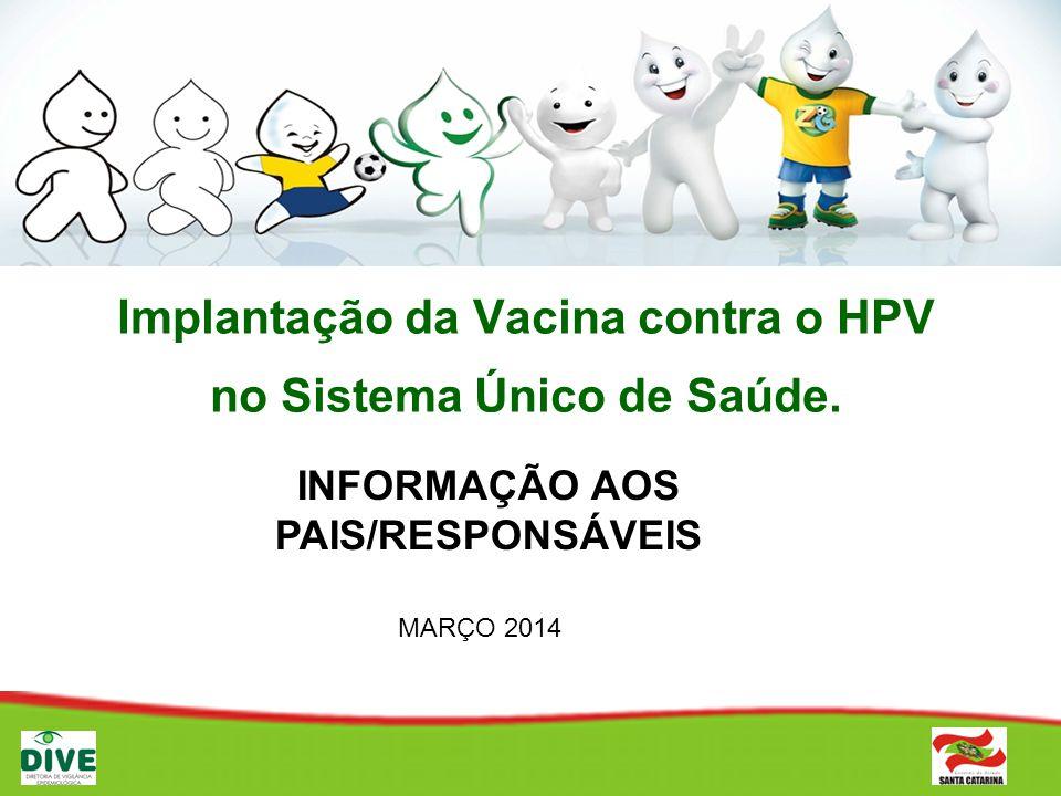 Implantação da Vacina contra o HPV no Sistema Único de Saúde.