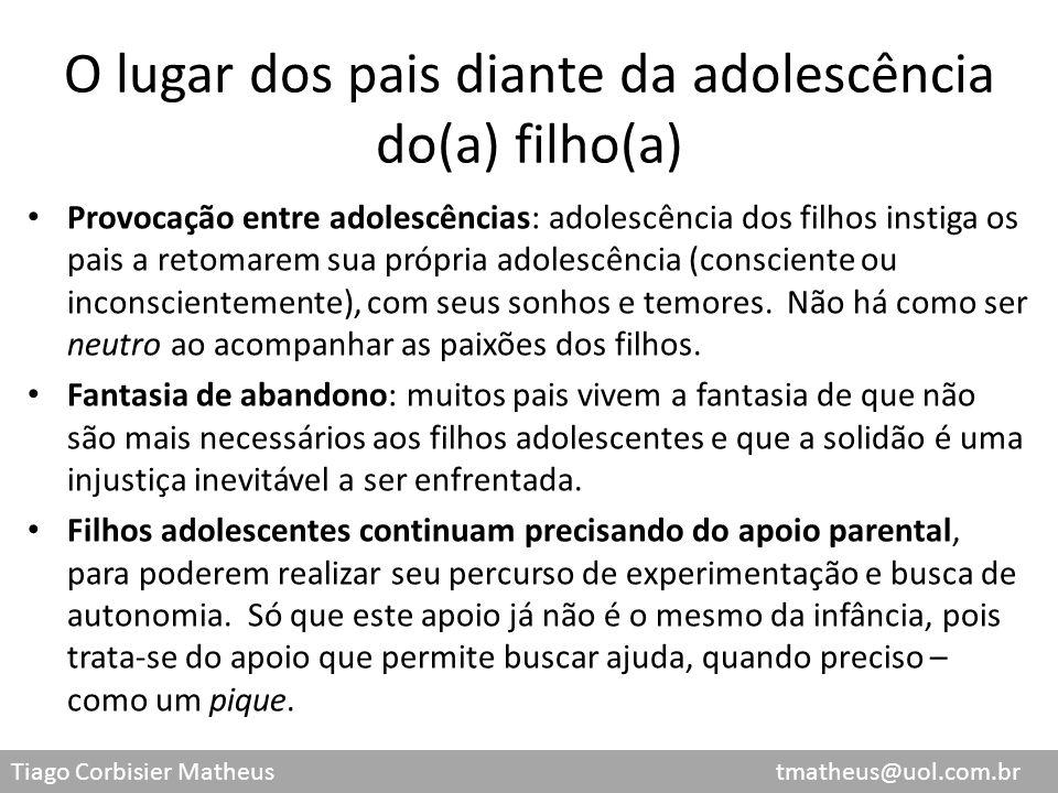 O lugar dos pais diante da adolescência do(a) filho(a)