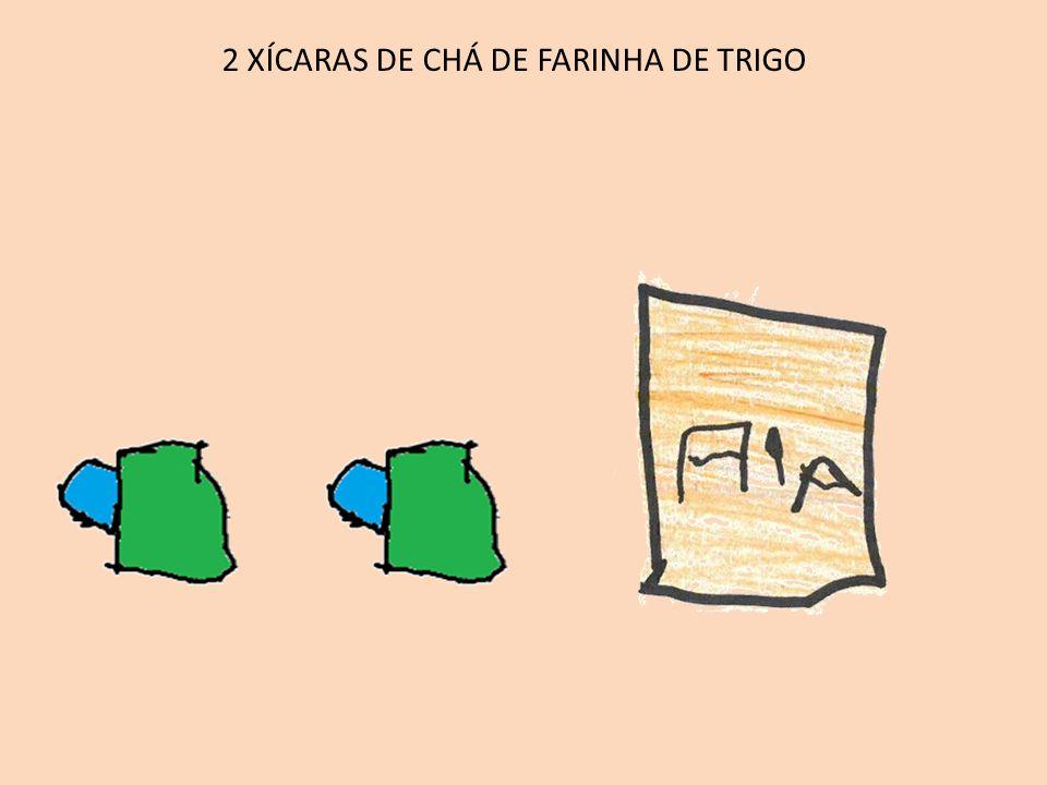 2 XÍCARAS DE CHÁ DE FARINHA DE TRIGO