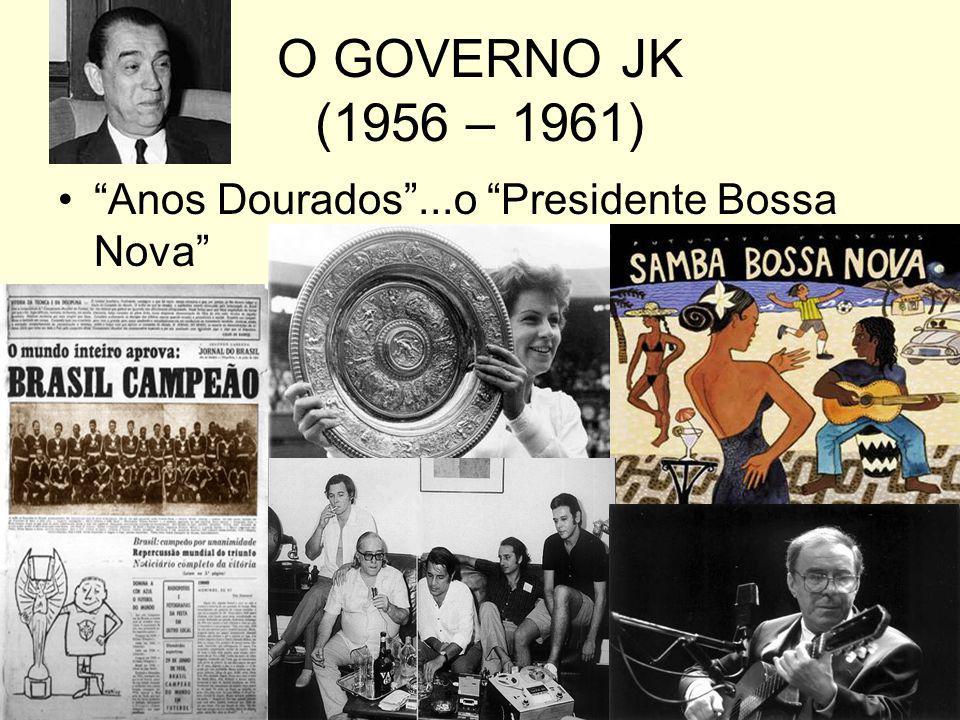 O GOVERNO JK (1956 – 1961) Anos Dourados ...o Presidente Bossa Nova