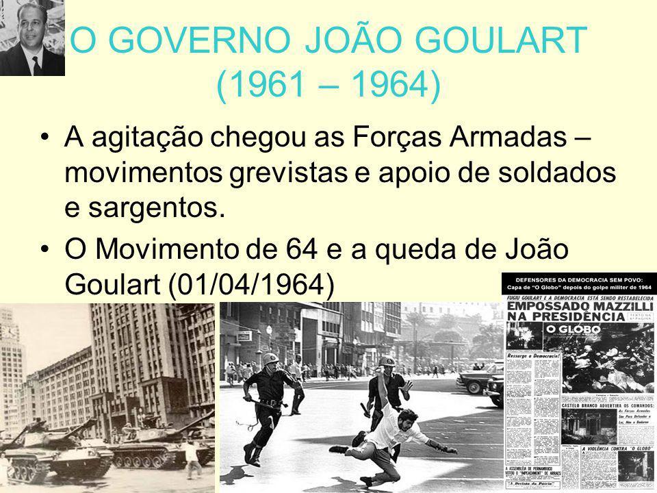 O GOVERNO JOÃO GOULART (1961 – 1964)
