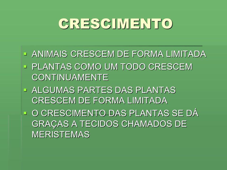CRESCIMENTO ANIMAIS CRESCEM DE FORMA LIMITADA