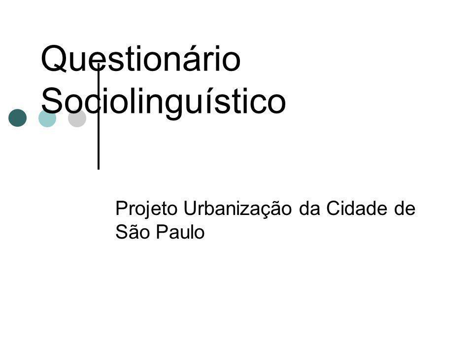 Questionário Sociolinguístico