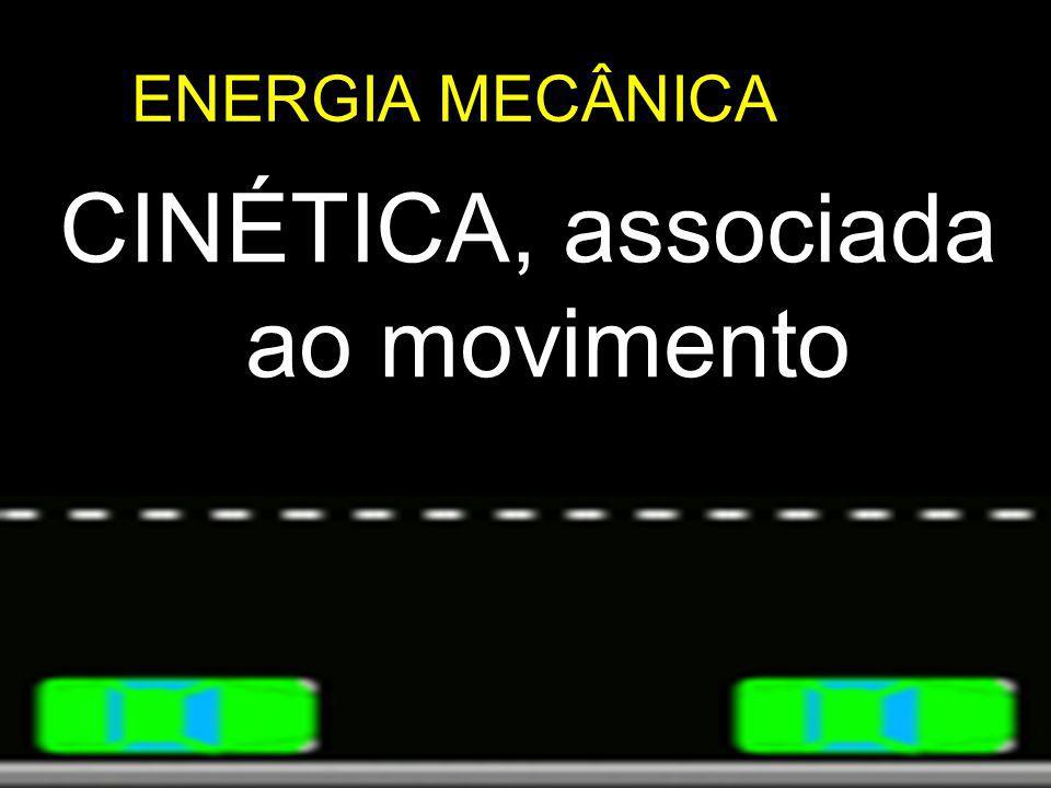 CINÉTICA, associada ao movimento