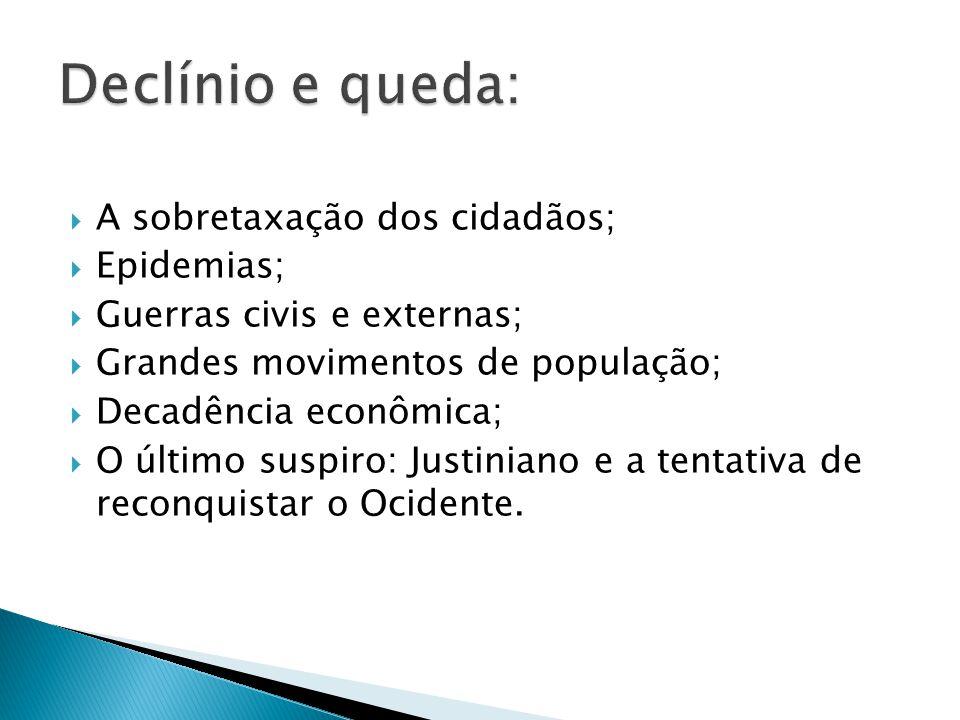 Declínio e queda: A sobretaxação dos cidadãos; Epidemias;