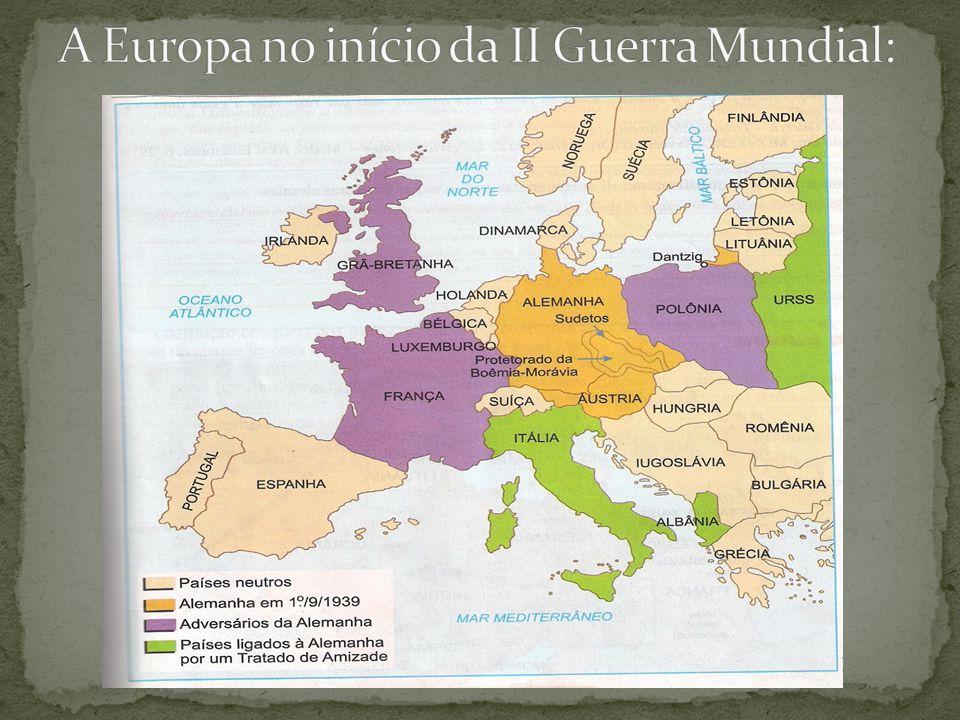 A Europa no início da II Guerra Mundial: