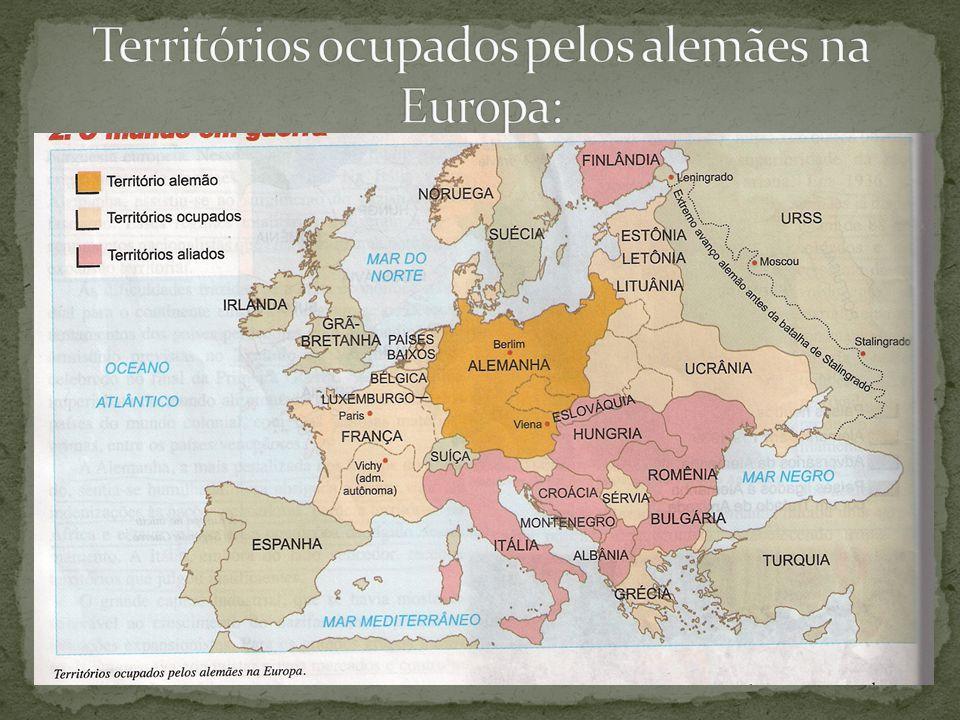 Territórios ocupados pelos alemães na Europa: